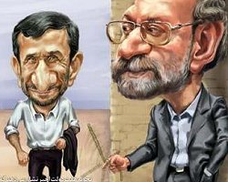 فیلم؛ توهین بی سابقه احمدی نژاد به لاریجانی